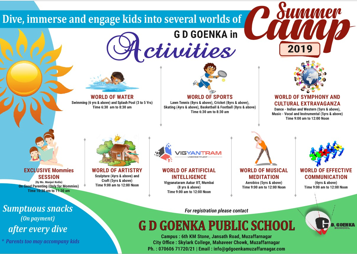 holiday homework of gd goenka public school vasant kunj